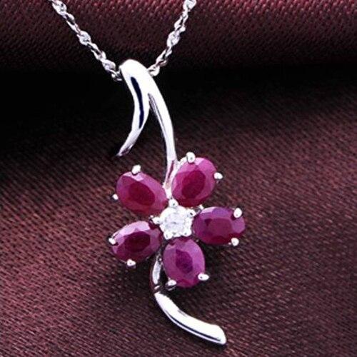 Колье ожерелье QI Xuan_Red каменный цветок кулон Necklaces_Real Necklaces_Quality Guaranteed_Manufacturer непосредственно распродажа