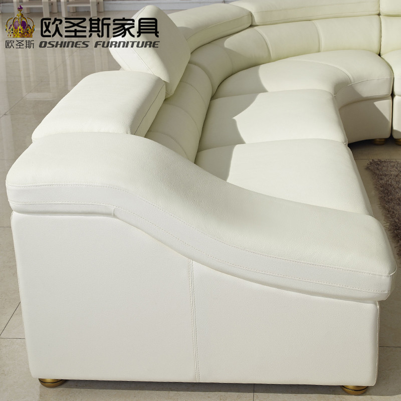 Semi Circle Half Moon Leather Sofa Set Modern Furniture New Model Sets Living Room Ocs 628 In Sofas From On