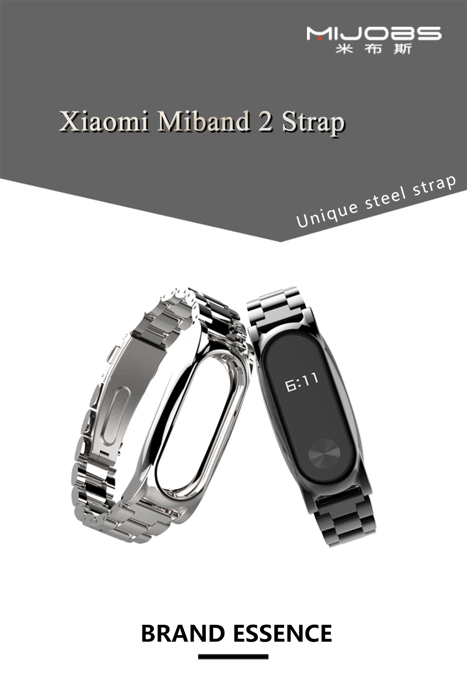 Original Stainless Steel Metal Plus Fitbit Free tool Xiaomi miband 2 Smart Bracelet Replacement Fitness Tracker mi Accessories 3