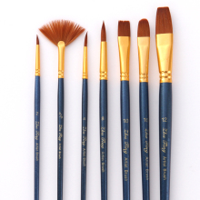 Nylon Paint Brushes with Wooden Handle