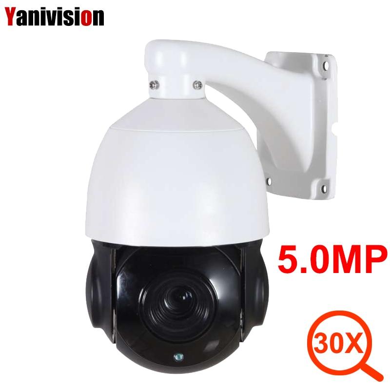 Caméra IP extérieure POE 5MP 4MP 1080 P PTZ 30X ZOOM étanche caméra dôme de vitesse PTZ H.265 IR 80 m P2P caméra de sécurité CCTV IP Onvif