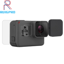 Tempered Glass Film LCD HD Screen Protector+Housing Lens Protector for GoPro HERO 7 6 5 Black Action Camera Accessories action camera accessories tempered glass film lcd hd screen protector dustproof protective film for gopro hero 7 6 5