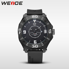 WEIDE luxury sports Mens Rubber Strap Band Waterproof Quartz Big Dial Clock Multiple Time Zone Wrist Watch berloques orologi oulm 3286 rubber band male sports quartz watch with big dial