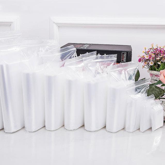 Thực Phẩm cao cấp Lưu Trữ Trọn Gói Zip Khóa Ziplock Túi Trong Suốt Nhựa Nhỏ Trang Sức đóng gói Reclosable Poly Túi Zip Dày 100 cái/lốc