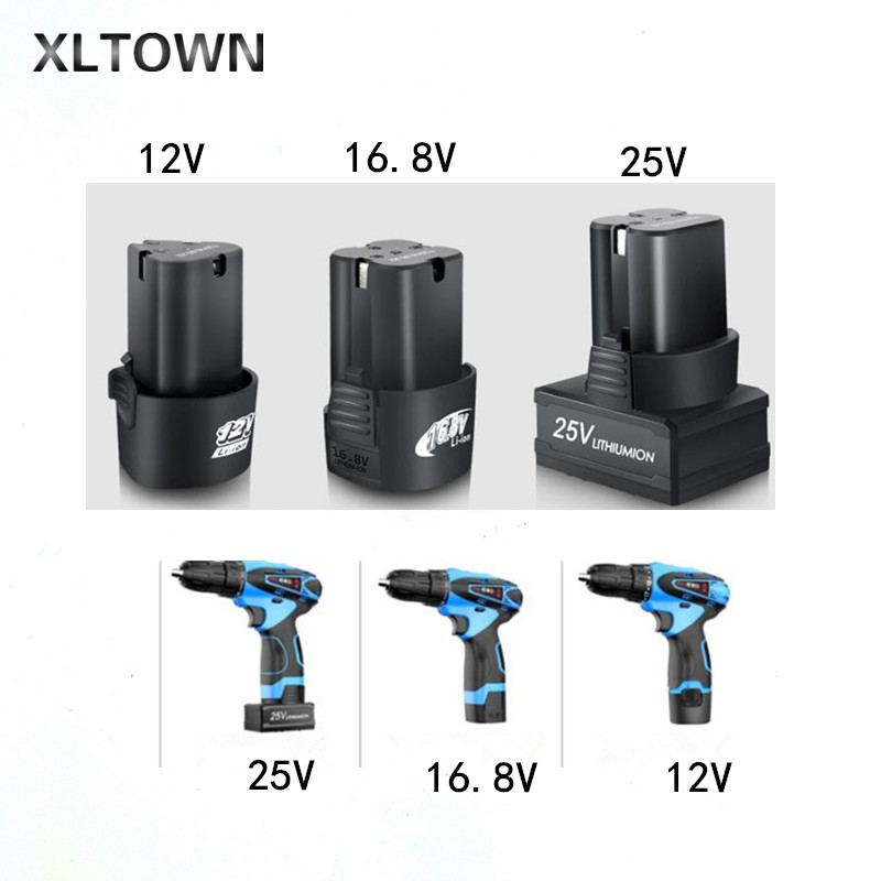 XLTOWN 12/16.8/25V Lithium Battery Electric Screwdriver Rechargeable  Cordless Electric Drill Dedicated Large Capacity Battery