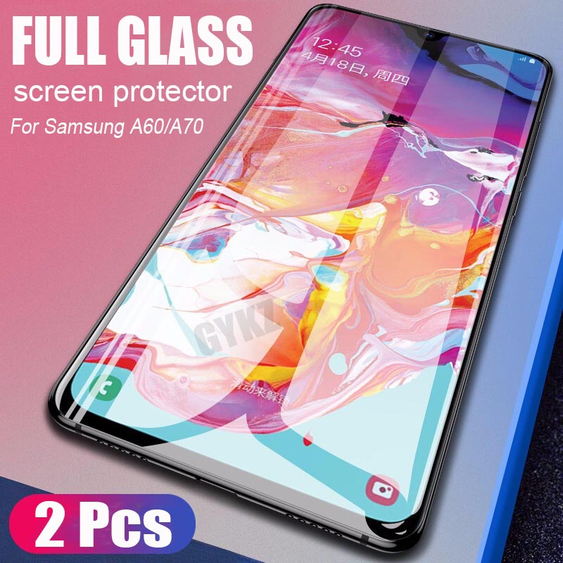 Full Screen Tempered Glass For Galaxy Samsung A60 A70 Screen Protector Full Coverage Tempered Glass For Samsung A70 A60 Glass
