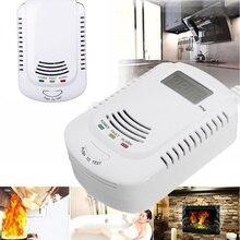 Газовый Детектор голосовой Предупреждение кухонный сигнал Kit независимый Подключите горючий Природный ЖК-дисплей Дисплей датчик утечки газа сигнализации