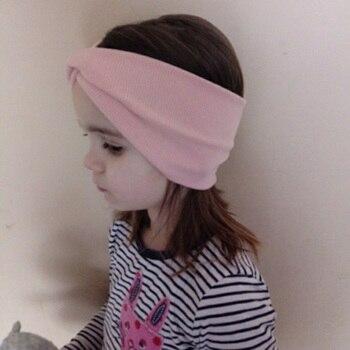 New Baby Girls Headband Top Knot Elastic Turban Hairband Kids Head Wrap Ears Warmer Headwear Girls Headbands Hair Accessories 1
