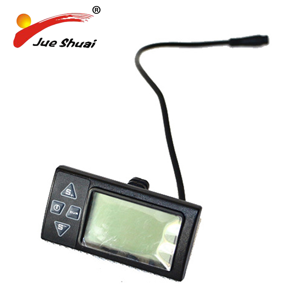 Electric Bicycle LCD Displayer for 36V Electric Bike Manual Control Panel E Bike Computer Meter Monitor