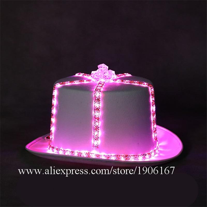Led light hat music festival nightclub bar light stage props birthday gift07