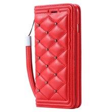 Kisscase бумажник case для iphone 6 6s iphone 6s plus заклепки призма сетки флип слот для карты крышка со стингом телефон сумка case для iPhone6