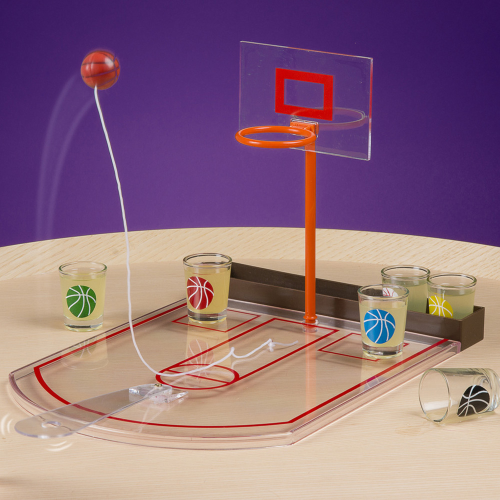 1Piece Tabletop Mini Basketball Drinking Game Bingo Basketball Shot Glass  Game Party Drinking Game Glass Cups