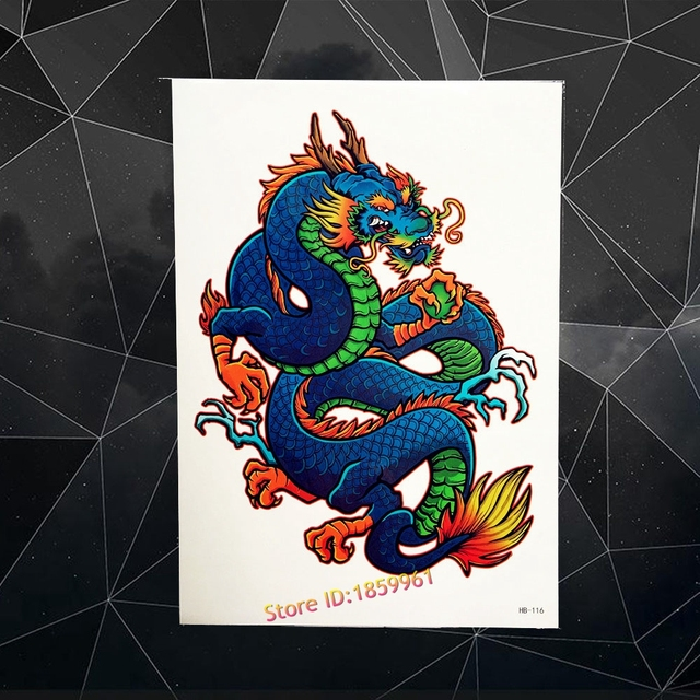 Coo Dragon Ball Impermeable Falso Flash Tatuaje Temporal Mujeres