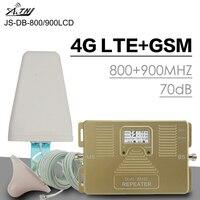 Полный Смарт 4G LTE 800 мГц B20 GSM 900 мГц мобильный телефон усилитель сигнала GSM LTE мобильный телефон 4G повторитель сотового сигнала Усилитель