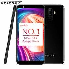 """LEAGOO M9 3G Smartphones 5.5 """"18:9 Plein Écran Quatre-Cames Android 7.0 MT6580A Quad Core 2 GB + 16 GB 2850 mAh D'empreintes Digitales Mobile Téléphone"""
