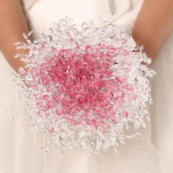 1 adet / grup Pembe ve beyaz Akrilik düğün gelin nedime tutan - Tatiller ve Partiler Için - Fotoğraf 3