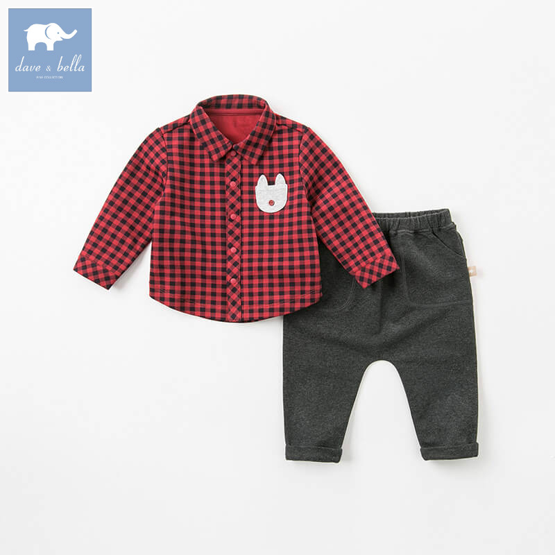 DB9287 dave bella autumn baby boys long sleeve clothing sets infant toddler shir+pants 2 pcs outfits children high quality suitsDB9287 dave bella autumn baby boys long sleeve clothing sets infant toddler shir+pants 2 pcs outfits children high quality suits