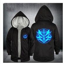 Fate grand order светящаяся Толстовка аниме FGO Alter пальто куртка зимняя мужская толстая молния Свитшот avenger