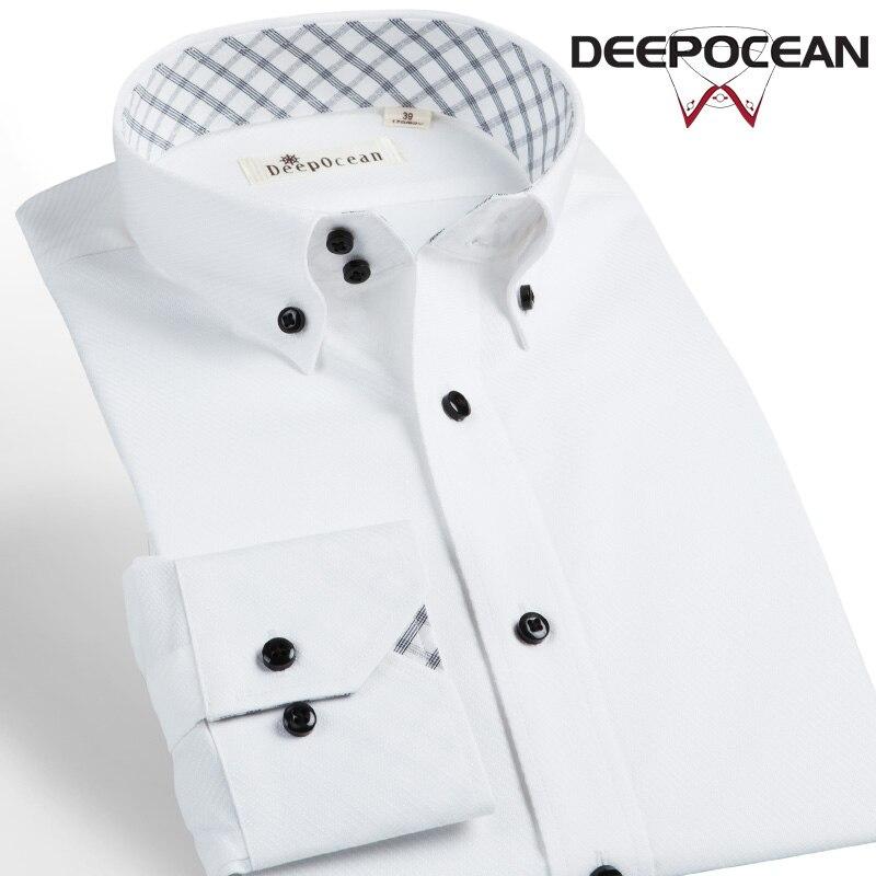 Deepocean Brand Shirt Men Formal Shirts