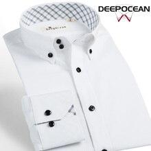Новая мода Для мужчин S рубашка хлопковая рубашка платье Бизнес БЕЛЫЕ РУБАШКИ Для мужчин Повседневная рубашка Camisa De Hombre