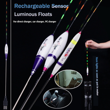 Rechargeable Luminous Float Sensor Fishing Floats Composite Nano Flotador Pesca Stoppers BobbersTool Accessories Tackles