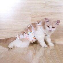 Жилет для лечения кошки, футболка, одежда для щенка, хлопковый костюм для восстановления, электронный ошейник, альтернативная одежда после хирургической операции, против вылизывания животных, ран