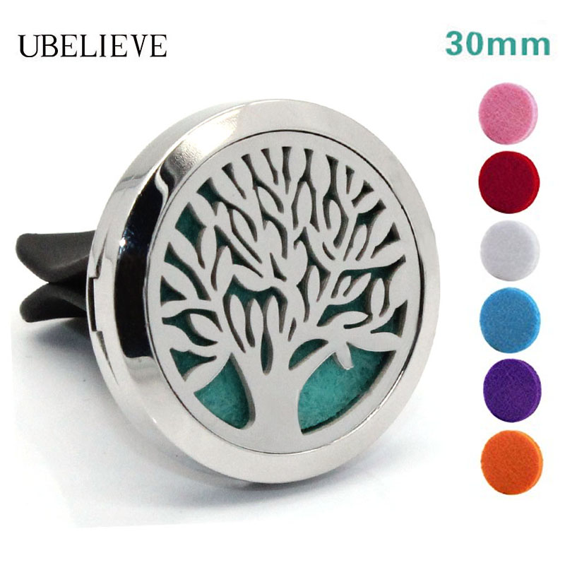 Hot Selling Tree Of Life Car Diffuser Locket Stainless Steel Car Diffuser Pendant Aromatherapy Car Vent Clip Diffuser Locket