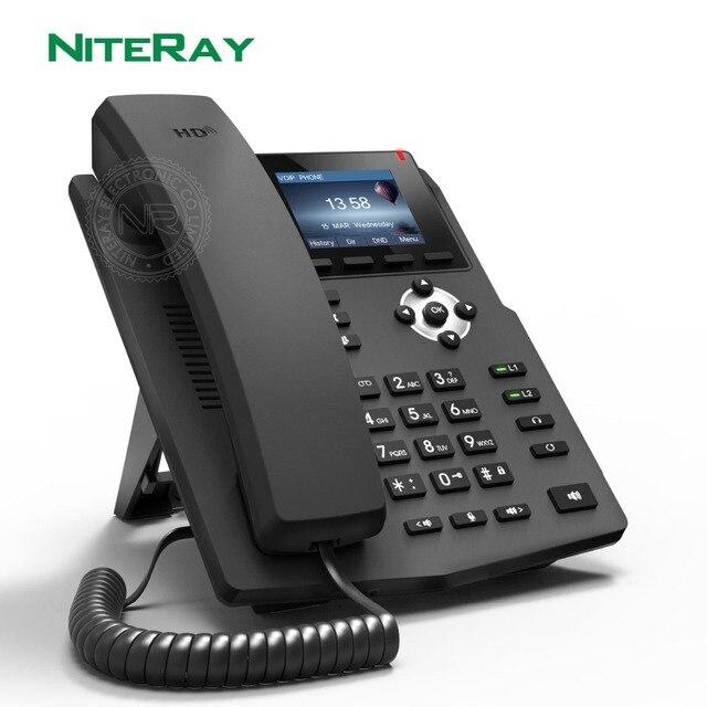 X3SP IP Phone SOHO IP Phone Industry Telephone 2 SIP Lines HD Voice POE Enabled Headphone Smart Desk phone