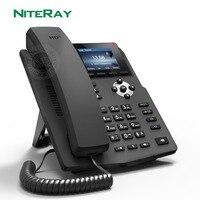 X3sp telefone ip soho indústria telefone ip 2 linhas sip hd voz poe habilitado fone de ouvido telefone de mesa inteligente|null| |  -
