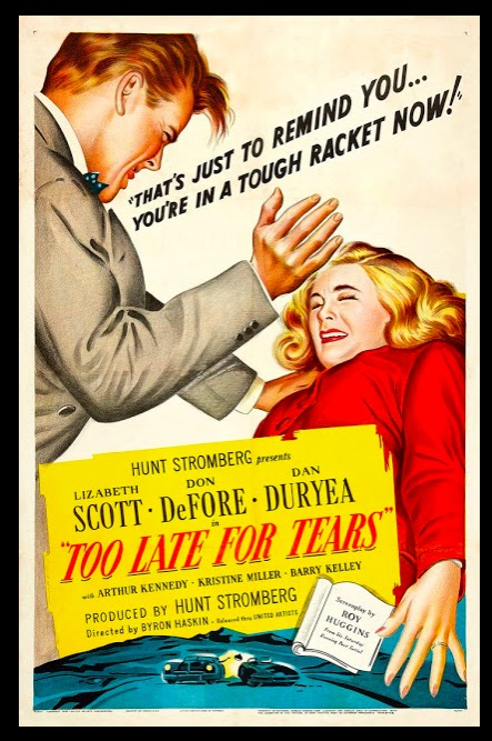 Too Late for Tears Classic Movie Film Noir Retro Vintage Poster Canvas Painting DIY Wall Paper Home Decor Gift image