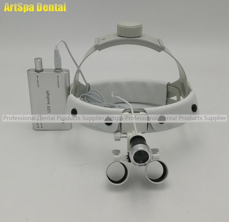 2.5X times surgery operation surgical Magnifier Dental Loupe with LED light 3 5x magnification antifog medical enlarger lens surgery surgical magnifier with led light oral dental headlight operation loupe
