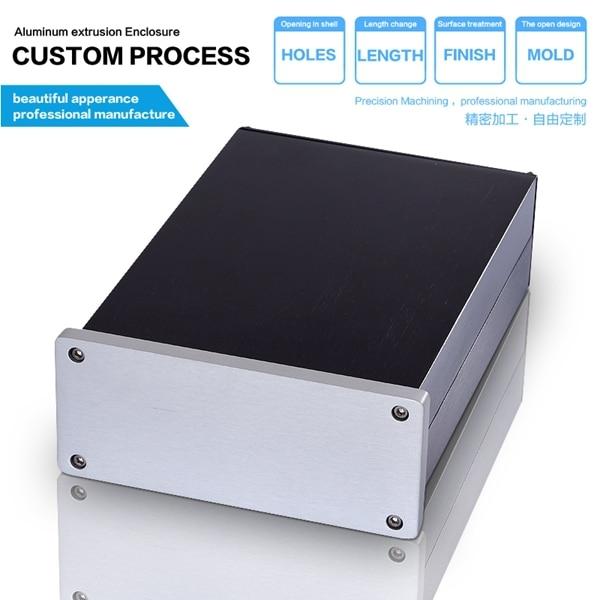 YGP-014 125-51-150 mm (W-H-L) aluminum enclosure project box electronic enclosure housing aluminum for electronic 215 52 263 mm w h l aluminum extruded enclosures housing project box case