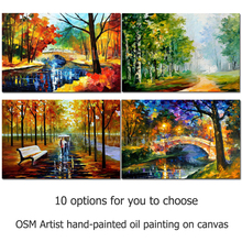 Top Artist Pure Handmade High Quality Rich Colors Abstract Landscape Oil Painting Colorful Knife Painting for Wall Art Pictures