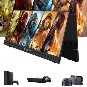 Image 1 - 13.3 Inç IPS oyun monitörü 1920x1080 HD ince Taşınabilir HDMI monitör, Ses Çıkışı, USB Güçlendirilmiş, dahili Hoparlör PS4