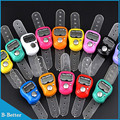 100pcs Digital Electronic Muslim Finger Ring Tally Counter Tasbeeh Tasbih Golf &Temple Finger Counter Wholesale Muslim Counter