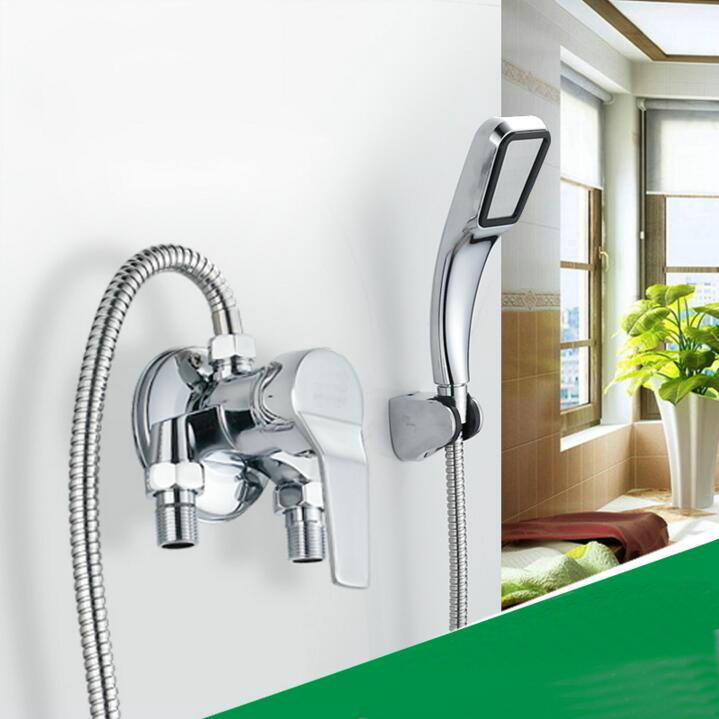 Wall mount Bath mixer tap single handle exposed install shower valve ...