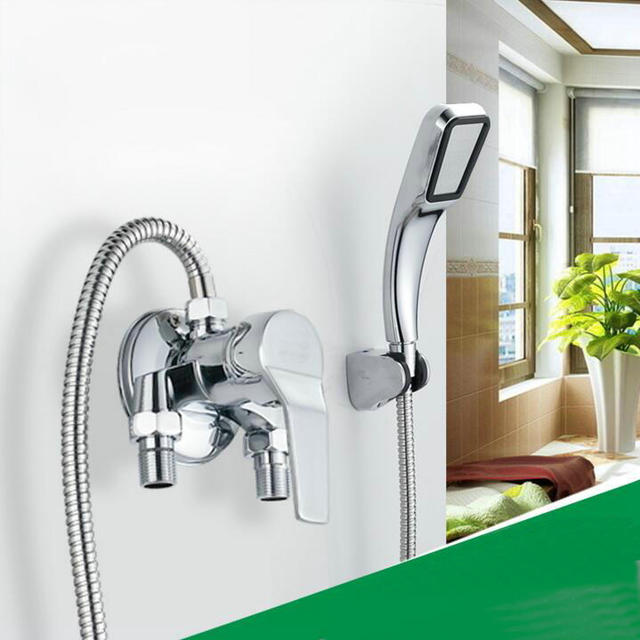 Wall mount Bath mixer tap single handle exposed install shower ...