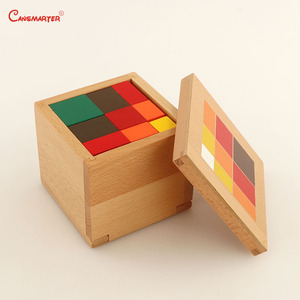 Image 2 - Aritmetica Trinomial Cubo Giocattoli di Legno Montessori Materiale Didattico Studente Scatola di Blocchi di Legno Per Bambini Giocattoli di Matematica Per Bambini