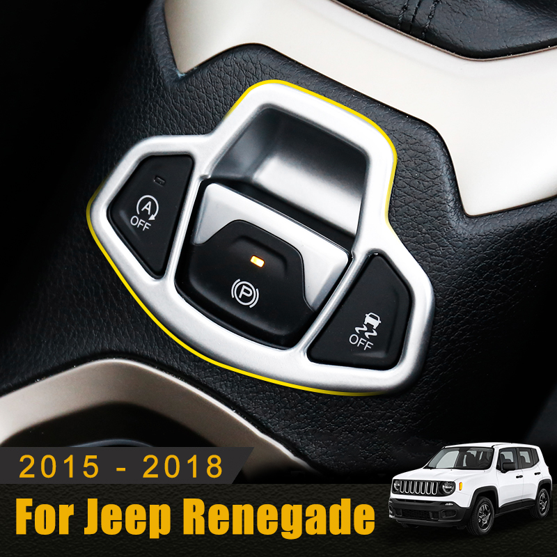 Black ABS Electric Brake Button Trim Kit Cover  For Jeep Compass 2017-2019