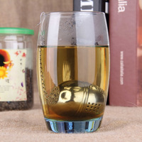 1pcs Strainer Tea filter Silver Stainless Steel Teakettles Locking Spice Egg Shaped seasoning Ball Newest Hot Search CF010