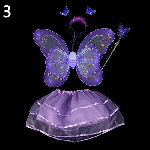 Kids cosplay party clothes fairy butterfly wing wand for Butterfly wands wholesale