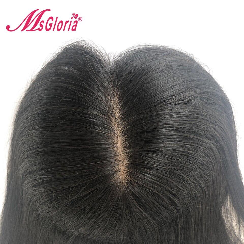 100% cheveux humains toupet pour femmes et hommes Base en soie 16*18 cm longueur de cheveux 6-16 pouces brésilien Remy cheveux blanchis noeuds avec des Clips