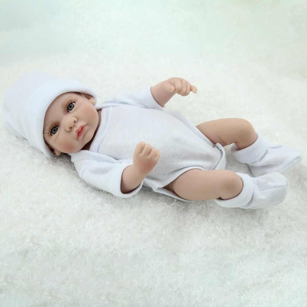 Cheio de Silicone Bonecas Reborn 10 polegada 25 centímetros Bebe Vivo Lifelike Mini Menina Da Criança Jogo Realista Brinquedos Crianças Banho playmate Presente