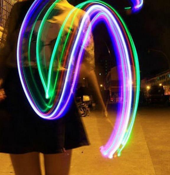 Luces LED de Rayos Láser Dedo diversión Anillos Raves Neon Glow Disco Lámparas f