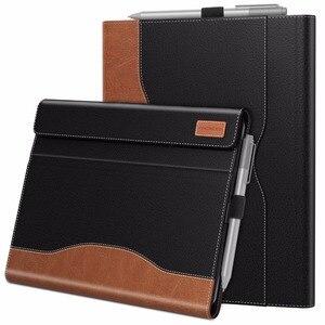 Image 1 - Case Voor Microsoft Oppervlak Gaan, meerdere Kijkhoek Slim Folding Stand Cover /Pen Houder En Document Kaartsleuven Business Cover
