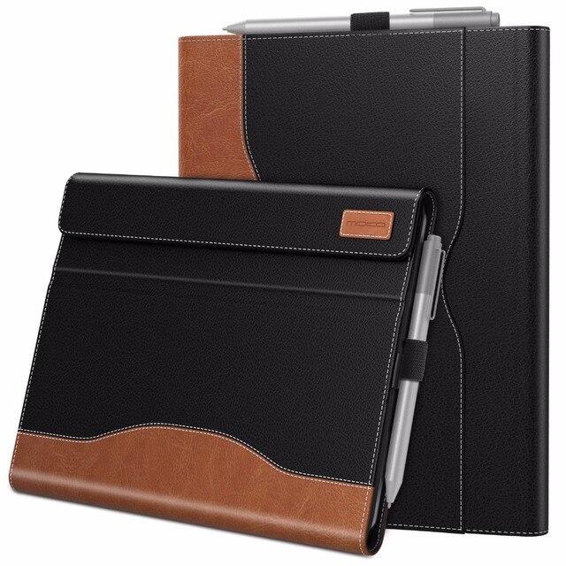 Case Voor Microsoft Oppervlak Gaan, meerdere Kijkhoek Slim Folding Stand Cover /Pen Houder En Document Kaartsleuven Business Cover