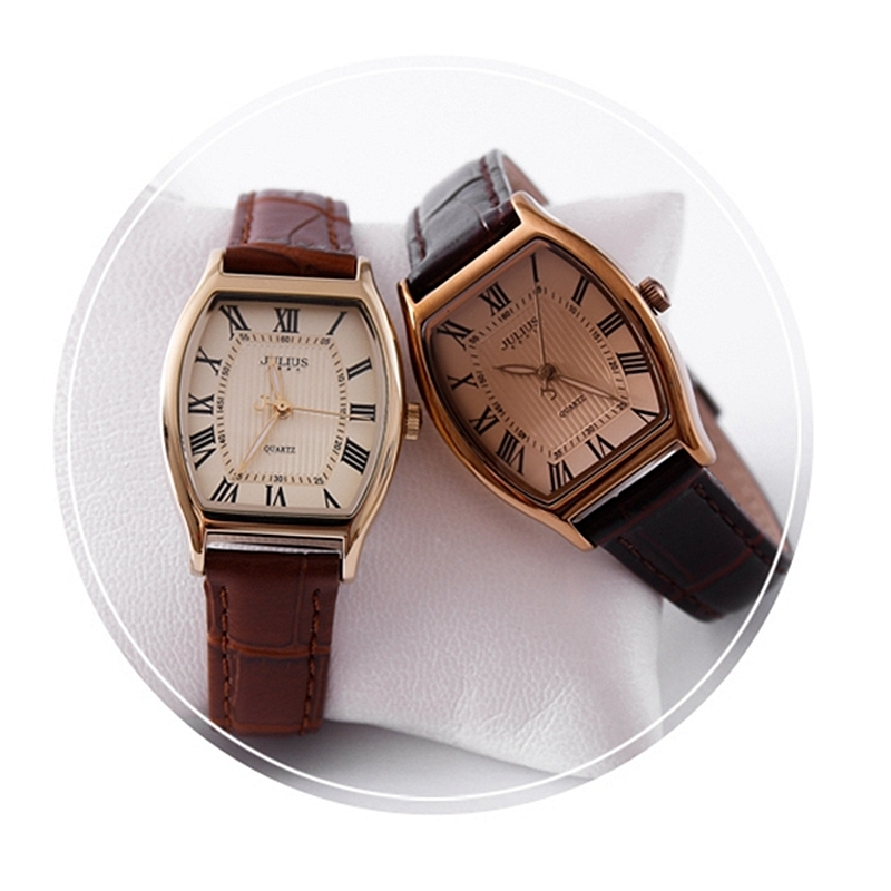 Beste cadeau damesmode fashion casual lederen band horloge Vintage - Dameshorloges - Foto 3