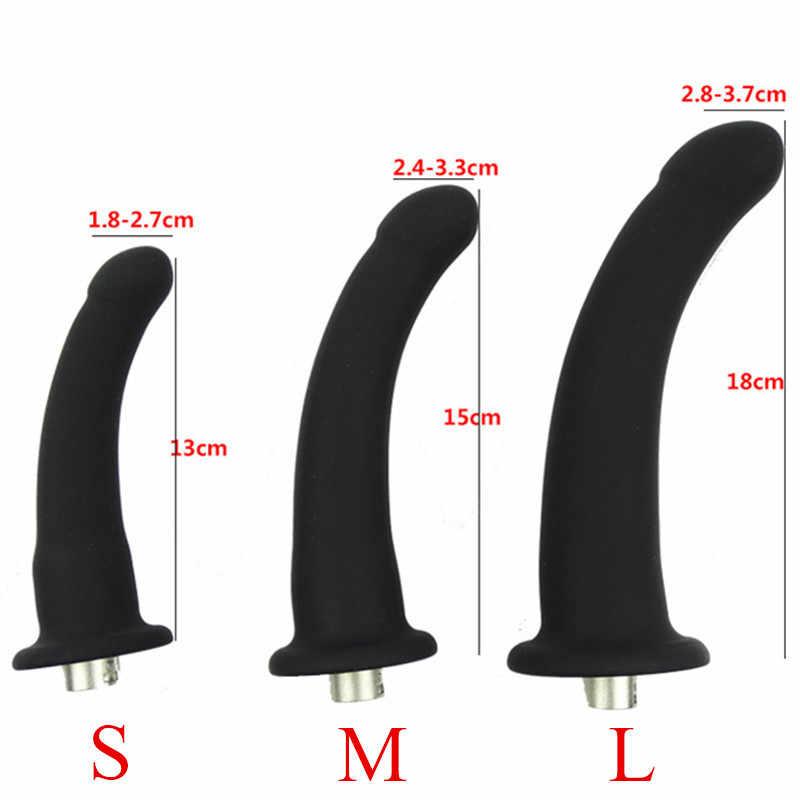 S M L 3 Boyutu Seks Makinesi Silikon Aksesuarları Ürünleri Gerçekçi Penis Vücut Masajı Anal Dildos Seks Oyuncakları Kadınlar için e5-2-59