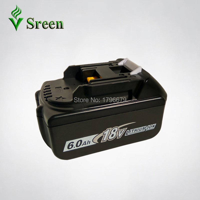 BL1860 6000mAh Rechargeable Lithium Ion Replacement for Makita 18V BL1840 LXT400 194205-3 BL1850 BL1830 Power Tool Battery Packs 18v 3 0ah nimh battery replacement power tool rechargeable for ryobi abp1801 abp1803 abp1813 bpp1815 bpp1813 bpp1817 vhk28 t40