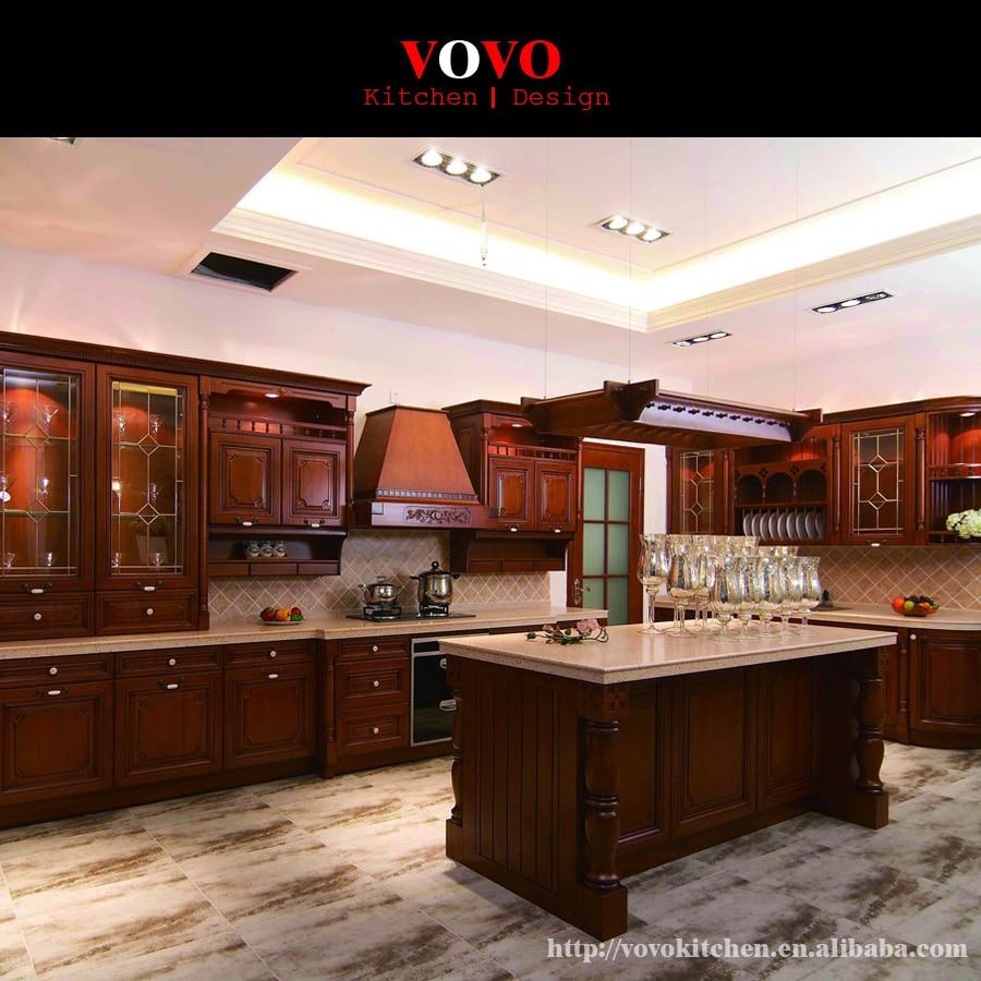 Cheap Unfinished Wood Kitchen Cabinets: America Cherry Wood Solid Wood Kitchen Cabinet With